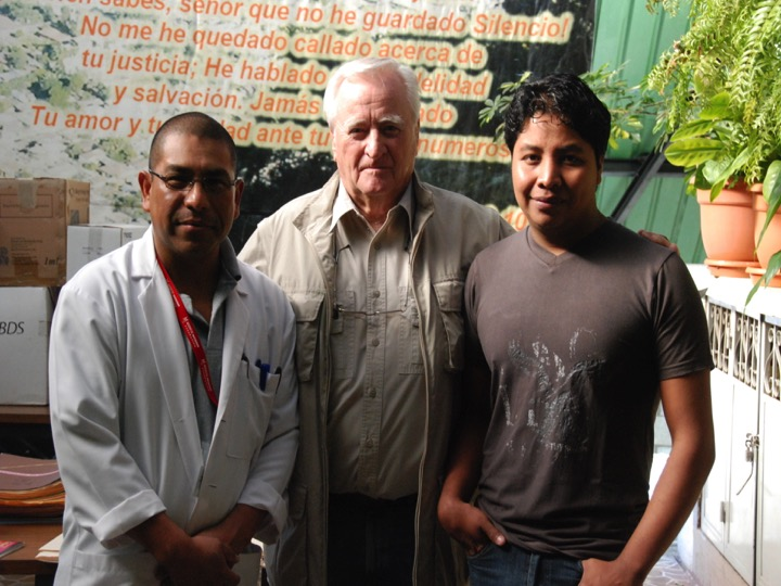 Med Dir Dr. Rafael Tun Ajpuac, M.D. , RKT , Cub Foundation Director Robert Thomas and Interpreter