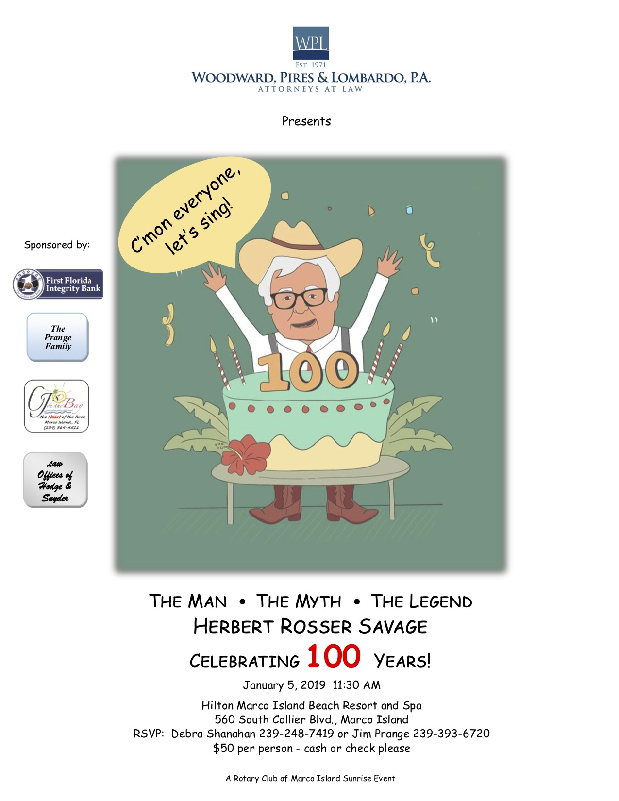 Herb Savage 100th Birthday Celebration